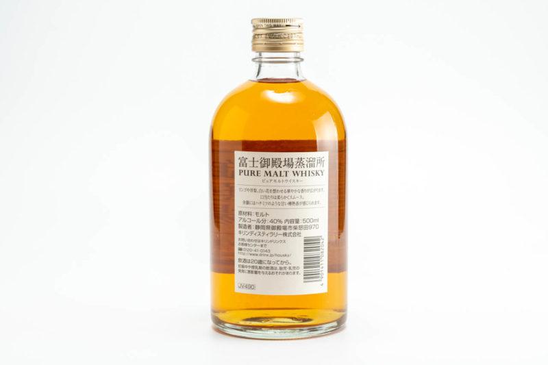 富士御殿場蒸留所ピュアモルトウイスキーのラベル面
